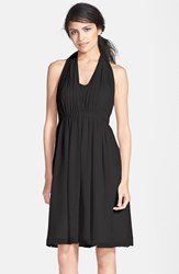 Women's Jenny Yoo 'Keira' Convertible Strapless Chiffon Dress Black