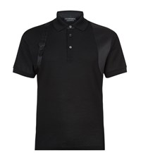 Alexander Mcqueen Satin Harness Polo Shirt Male Black