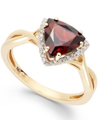 Macy's Garnet 1 3 4 Ct. T.W. And Diamond Accent Ring In 14K Gold