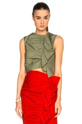 Isa Arfen Ruched Up Top In Green