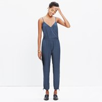 Madewell Faux Wrap Cami Jumpsuit In Sundial