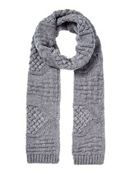 Linea Cable Knit Scarf Grey