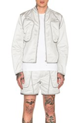 Calvin Klein Collection Kloten Cargo Bomber Jacket In Gray