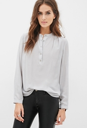 Forever 21 Round Collar Blouse