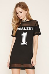 Forever 21 Realest 1 Graphic T Shirt Dress