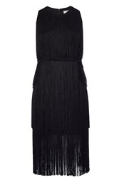 Coast Mayanna Fringe Dress Black
