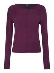 Therapy Pointelle Detail Cardigan Purple