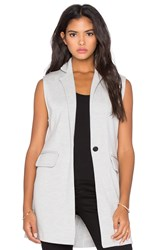 525 America Double Knit Sleeveless Blazer Gray
