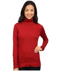 Pendleton Timeless Turtleneck Red Rock Heather Women's Clothing