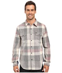 True Grit Vintage Plaid Canyon Tribeca Cord Long Sleeve Two Pocket Shirt With Stitch Grey Men's Clothing Gray