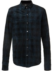 Amiri Plaid Button Down Shirt Blue