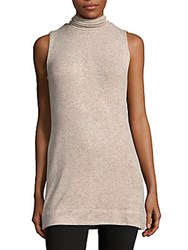 Saks Fifth Avenue Textured Sleeveless Tunic Oatmeal
