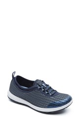 Women's Rockport 'Walk 360' Lace Up Sneaker Deep Ocean Fabric