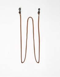 Asos Leather Sunglasses Chain Brown