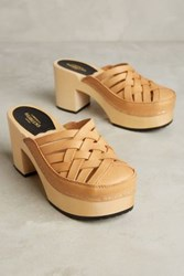 Anthropologie Swedish Hasbeens Camilla Clogs Neutral