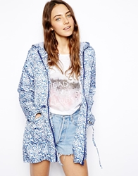 Asos Rain Pac A Parka In Ditsy Floral