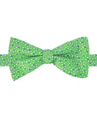 Tommy Hilfiger Men's Floral Print To Tie Bow Tie Green