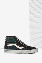 Nasty Gal Sk8 Hi Sneaker Overwashed Plaid