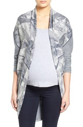 Tart Maternity Women's 'Meesha' Open Front Cardigan Heather Grey Navy