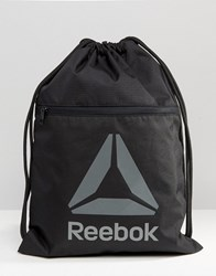 Reebok Drawstring Backpack With Classic Logo Black