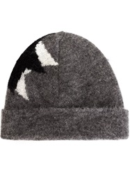 Neil Barrett 'Pop Art Star' Beanie Grey