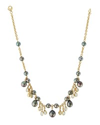 Assael 18K Tahitian Pearl And Moonstone Drop Necklace Women's