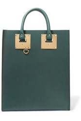 Sophie Hulme Albion Leather Tote Green