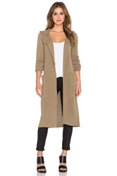 Atm Anthony Thomas Melillo Double Breasted Hooded Coat Brown
