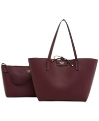 Guess Bobbi Bag In Bag Reversible Tote Bordeaux Multi