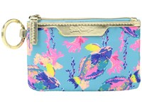 Lilly Pulitzer Key Id Case Shorely Blue Sandstorm Wallet