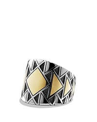 David Yurman Signet Ring With Gold Gold Silver