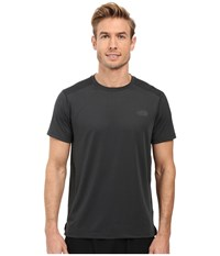 The North Face Kilowatt Short Sleeve Crew Tnf Dark Grey Heather Men's Clothing Gray