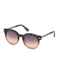 Tom Ford Janina Ombre Cat Eye Sunglasses Peach