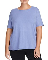Eileen Fisher Plus Organic Cotton Heathered Tee Periwinkle