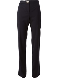 Salvatore Ferragamo Straight Leg Trousers Blue