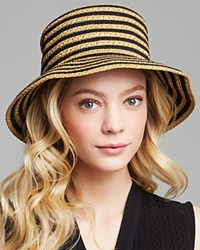 Eric Javits Braid Dame Multicolor Bucket Hat Black