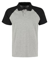 Your Turn Polo Shirt Mottled Grey Black