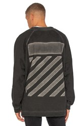 Off White Fleece Crewneck Charcoal