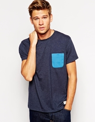 Jack Wills Camberwell T Shirt With Contrast Pocket Navy