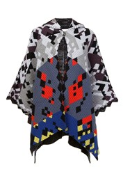 Peter Pilotto Multi 'Ottoman' Knit Cape Grey