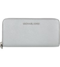 Michael Michael Kors Jet Set Travel Continental Zip Around Wallet Silver