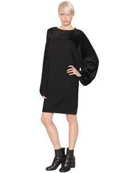 Maison Martin Margiela Wool Blend Knit And Velvet Dress
