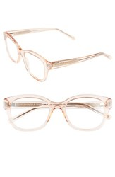 Women's Kate Spade New York 'Tanya' 49Mm Reading Glasses Transparent Pink