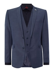 Lambretta Plain Slim Fit Suit Light Blue