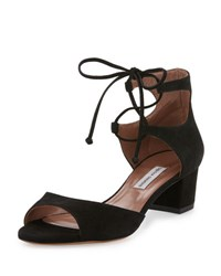 Tabitha Simmons Tallulah Suede Ankle Cuff Sandal Black
