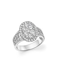 Bloomingdale's Diamond Cluster Ring In 14K White Gold 2.0 Ct. T.W.