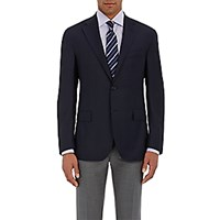 Barneys New York Men's Two Button Blazer Navy