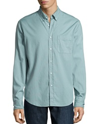 Ag Adriano Goldschmied Long Sleeve Button Front Shirt Ice Blue