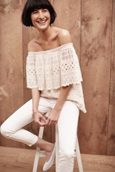 Anthropologie Manarola Off The Shoulder Top Cream