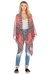 Band Of Gypsies Long Kimono Red